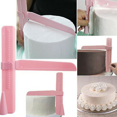 Cake Smoother Polisher Tools Cutter Fondant Sugar craft Icing Adjustable Height
