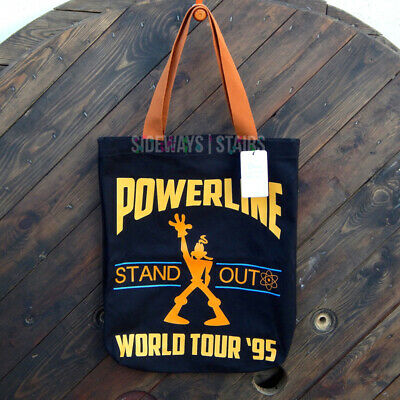 GOOFY MOVIE POWERLINE CANVAS TOTE BAG Disney Loungefly black caramel 12x18 rare