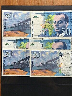 6x 1992 French Banknotes. 1506
