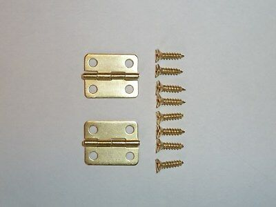 Mini Metal Hinges Jewellery Box, Dolls House, Cigar Box Hinges With 8mm Screws