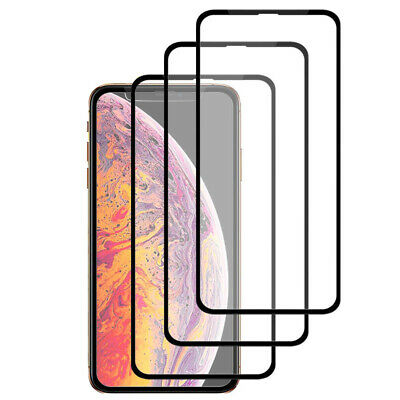5D Full Coverage 9H Tempered Glass Screen Protector For iPhone X XS Max Xr Case