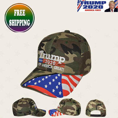 Donald Trump 2020 MAGA Camo Embroidered Hat Keep Make America Great Again Cap DL