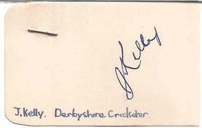 John Kelly signed card approx 3 x 2 inches. Cricketer E1893