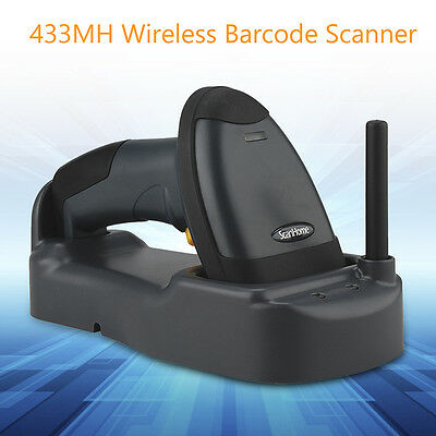 SH-3000 Wireless Barcode Scanner 433MHz USB Reader With Base High Performance