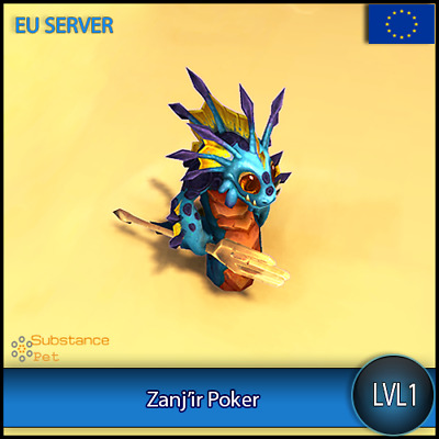 Zanj'ir Poker lvl1 Pet BFA | All Europe Server | WoW Warcraft Loot