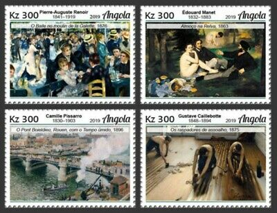 Angola - 2019 Impressionist Paintings - Set of 4 Stamps - ANG190110a