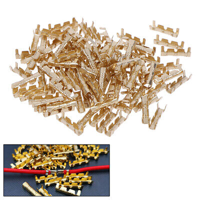 100Pcs Brass Copper 0.5-1.5mm² Crimp Electrical Connector Wire Terminal Kit TYU