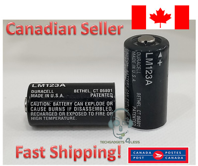 DURACELL LM123A CR123 LITHIUM BATTERIES 3V DL123A 123A - BRAND NEW - 2 Batteries
