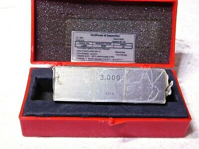 "Professional Single 3"" Square Steel Gage Block Grade-0 3 x1""x1"" CM12765 86275906"