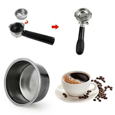 Filter Cup Non Pressurized Coffee Reusable Tool For Breville Delonghi Krups 51mm