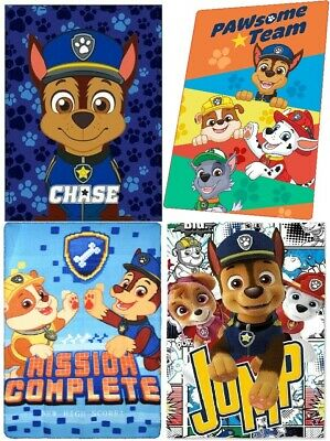 Paw Patrol Boys & Girls Kids Blanket Throw Warm Fluffy Coral Fleece Plush
