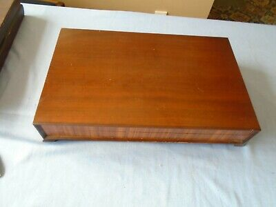 Large Vintage  Mahogany Canteen Of Cutlery Box Wooden Storage Display Box 46.75