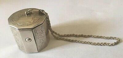 Antique Sterling Silver Powder-Tier Powder Compact 1920s  *needs repairs*