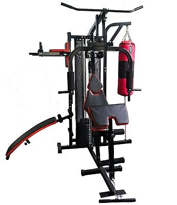 Fit4home Multi Gym Home Gym (45 KG) with 20 KG Punch Bag Body Building Station