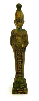 Osiris Statue Egyptian God Figurine Ancient Antique Hieroglyph Bead Sculpture