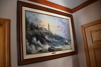 Framed Thomas Kinkade- Clearing Storms- Seaside Memories-Gallery Proof!-MINT