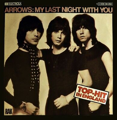 """7"""" ARROWS My Last Night With You / Movin' Next Door To You RAK R&B / Soul D 1975"""