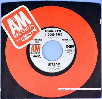 """7"""" STREAK later ARROWS Gonna Have A Good Time ALAN MERRILL A&M Glam Rock US 1972"""