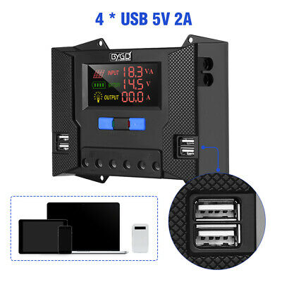 30A Solar Charger Controller Power Regulator Panel 12V 24V USB 5V Output Display