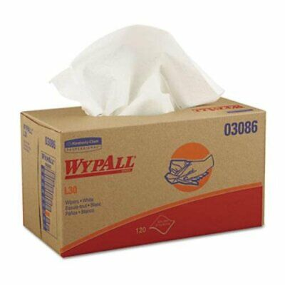 """Kimberly-Clark 03086 Wypall L30 Cleaning Wipes, POP-UP, 10"""" Wide, 9.8"""" Length"""