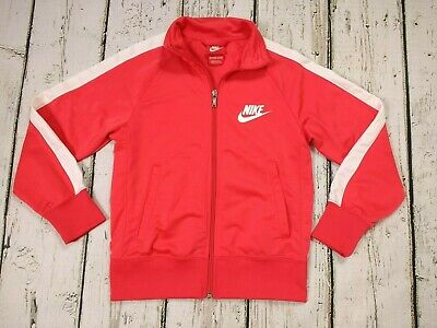 Girls Nike Red Tracksuit Varsity Jacket Size 8-10 Years