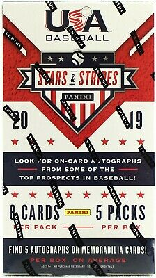 Andrew Vaughn 2019 Panini Stars And Stripes Player Case Break 10 Boxes Part A