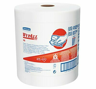Wypall X80 Reusable Wipes (41025), Extended Use Cloths Jumbo Roll, White