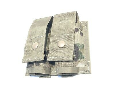 US ARMY OCP MULTI-CAM EAGLE IND DOUBLE 40mm HE GRENADE POUCH M203 M320 MOLLE NEW