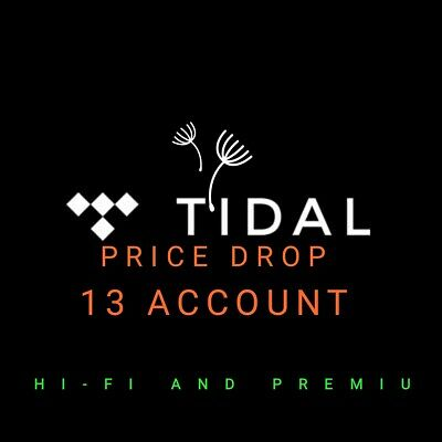 TIDAL Hi-Fi 🔥 2 Months Guaranteed 🔥 - FAST DELIVERY ✅13 ACCOUNT 🔥