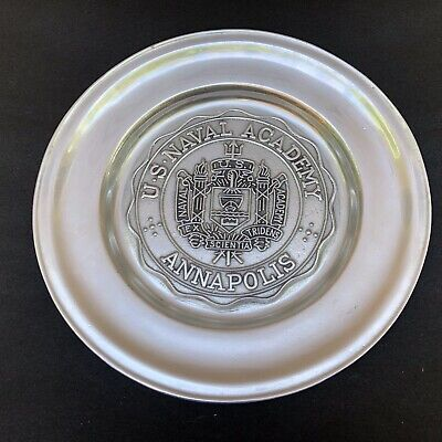 """U.S. Naval Academy at Annapolis 11"""" Pewter Plate By Wilton Armetale"""