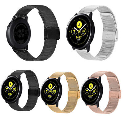 Stainless Steel Milanese Loop Band Strap Fr Samsung Galaxy Watch Active Bracelet