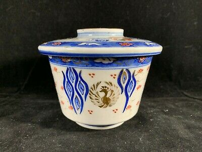 Chinese Antique Blue And White Porcelain Tea Cup with Lid