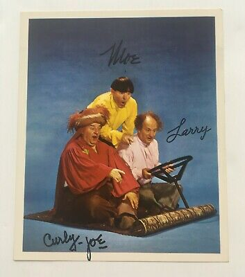 The Three Stooges Signed Photo - Printed