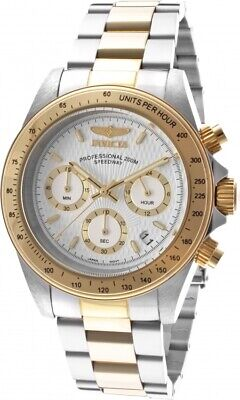 Invicta Men's 9212 'Speedway' Chronograph Gold-Tone Silver Stainless Steel Watch