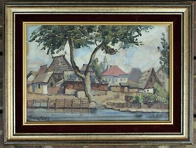 Painting Signed By Listed Czech Artist Franta (Frantisek) Maly (1900-1980)