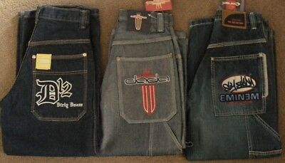 Homies Skate JEANS  D12 + DADA + EMINEM Collection 3pc Lot ~ fit 26W  Boys sz 8