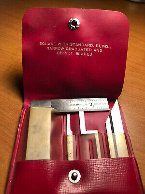 Starrett 453-E Square USA Vintage Diemakers Complete 5 Piece w Original Red Case
