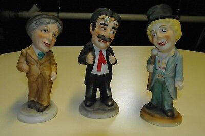 Trio of MARX BROTHERS: Groucho, Harpo, and Chico Royal Crown Statues