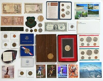 BIG Coin Collection Mint Set, SILVER, Paper Money PanAm Military Junk Drawer Lot