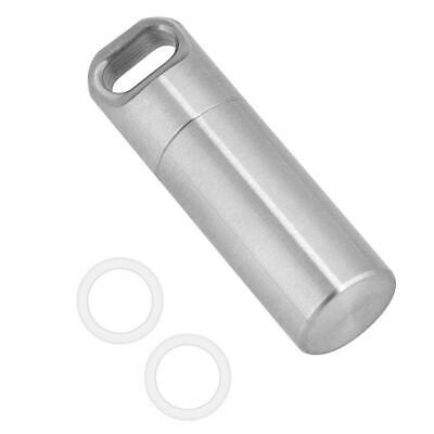 Stainless Steel Medicine Container Pill Holder Box Bottle Waterproof for Outdoor