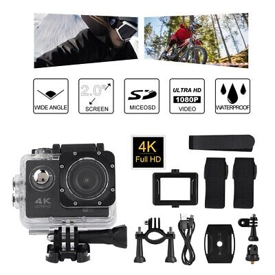 """2 Inch 4K HD Action Camera Camcorder Outdoor Sports MP4 Video 2.0"""" LCD Display"""