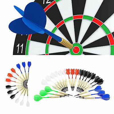 12/21 pcs Flechettes Pointe Laiton Safety Arrows+ 100pcs Queue Ailette Soft