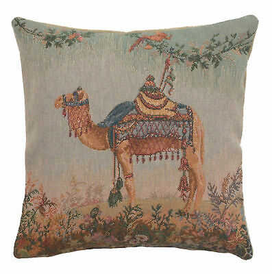 """Camel or Dromadaire French Jacquard Tapestry 14x14"""" Cushion Cover"""