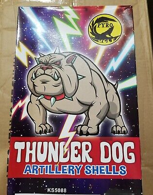 Vintage Thunder Dog Firework Box Great Firecracker Label To Collect