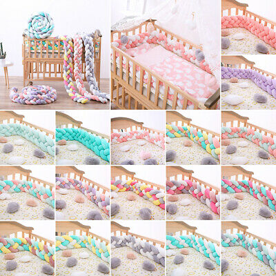 Plush Cotton Infant Crib Bumper Bed Protection Knot Fence Cradle Photography