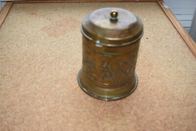 """Vintage Copper /Brass Tea caddy with lid 4 1/2"""" including final Tall"""