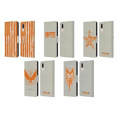 Official Tom Clancy's The Division 2 Key Art Leather Book Case For Huawei Phones