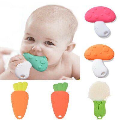 Baby Boys Girls Teether Kids Silicone Molar Stick Teething Toys Chewable Soother