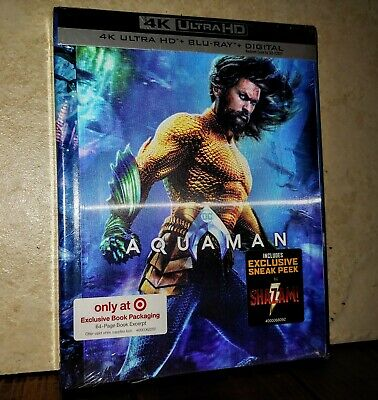 AQUAMAN (4K Ultra HD UHD+Blu-ray+Digital, Target Exclusive) BRAND NEW & SEALED