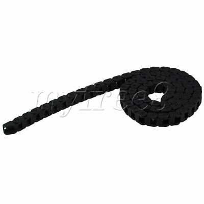 Black Nylon Bridge Type R18 Wire Carrier Drag Chain 1m Length Machine Tools